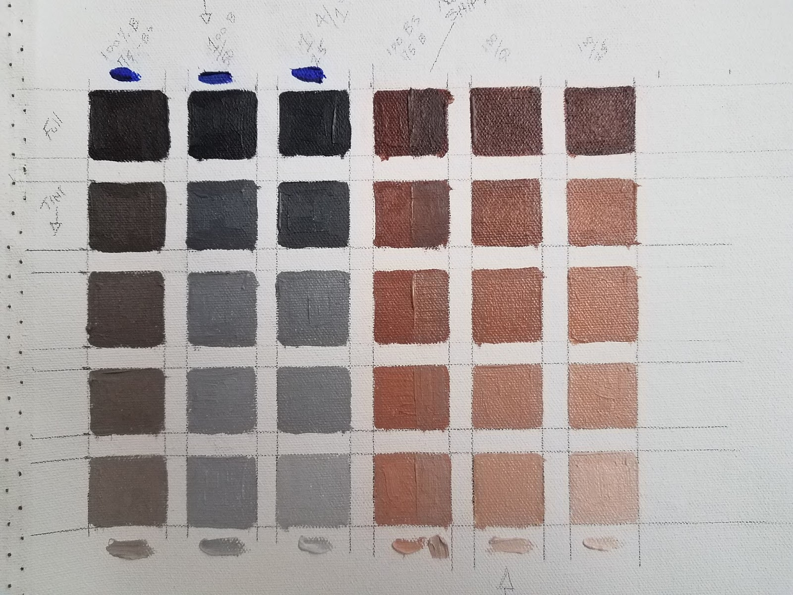 Color Scales Ultramarine Blue And Burnt Sienna Plus White Objectives Paint Opaquely Push The Development Of Options Examine Warm Vs Cool