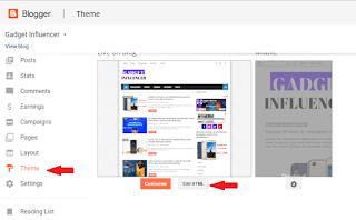 Theme section edit HTML