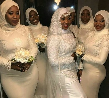 Check out this lovely Muslim bridal train and their hijab