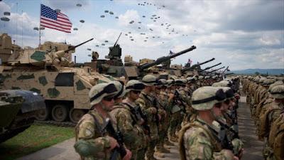 Fuerzas de Respuesta de la OTAN durante una maniobra militar en Georgia, país fronterizo con Rusia, 11 de mayo de 2016.