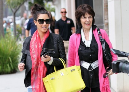 Father's Day: Kim Kardashian with her grandma MJ in Beverly Hills