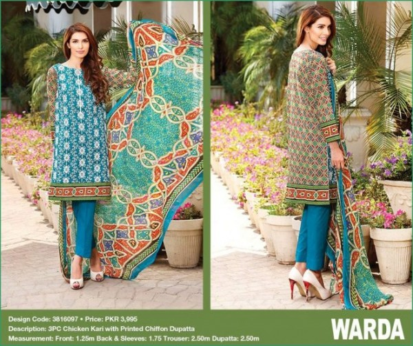 Warda Eid Chicken Kari Embroidered Collection