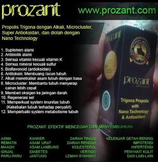 Propolis Prozant, Manfaat Prozant