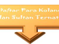 Daftar Para Kolano dan Sultan Ternate