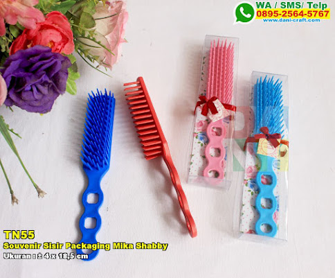 Souvenir Sisir Packaging Mika Shabby