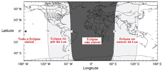 Visibilidade do Eclipse Lunar Penumbral de março de 2016