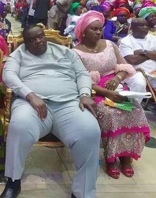 Photos: 74yr old billionaire, Emmanuel Iwuanyanwu and his young wife attend S/East August meeting in Imo