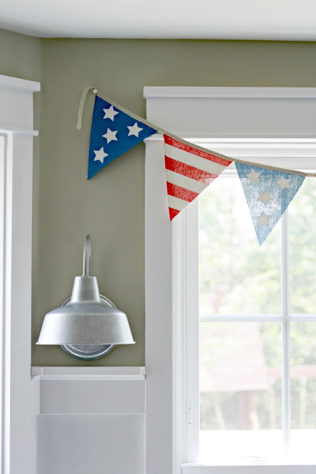 Fourth of July bunting