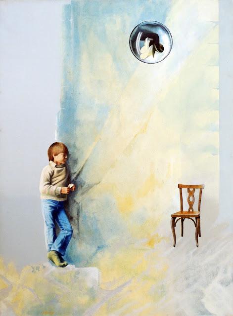 Horacio Gomez pintura figurativa niño jugando