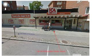 Tidningsstället, ICA-butiken, dubbelmordet i Linköping 2004.