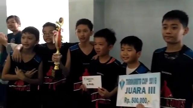 Tim Basket SD Kristen Kalam Kudus Juara 3 Tarakanita Cup 2018