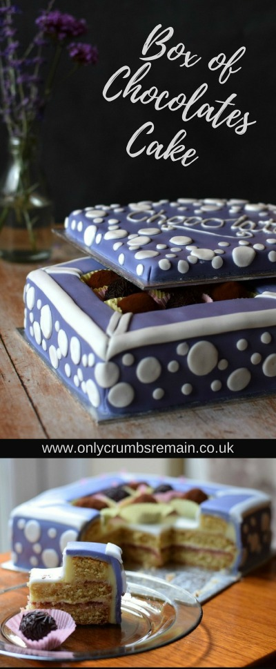 How to make a Box of Chocolates Cake easily, using vanilla sponge cakes, fondant icing and homemade chocolate truffles.