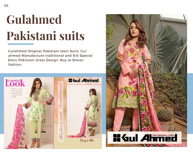Gulahmed 2019 Latest Pakistani Dresses for Eid