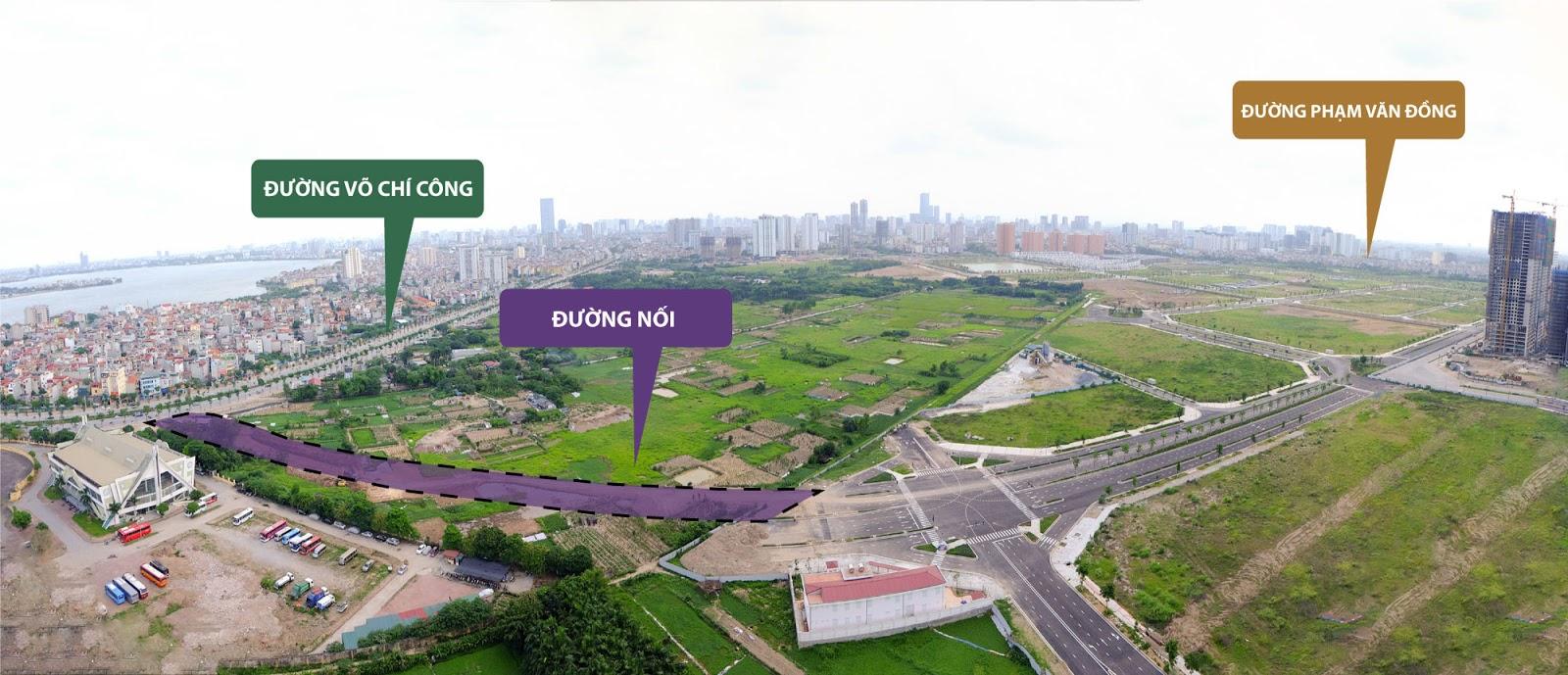 Chính thức hoàn thành đấu nối Tuyến đường Võ Chí Công - Ngoại Giao Đoàn | Chung cư 789 Xuân Đỉnh