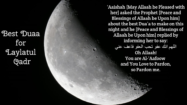 Meaning of the Best Duaa for Laylatul Qadr