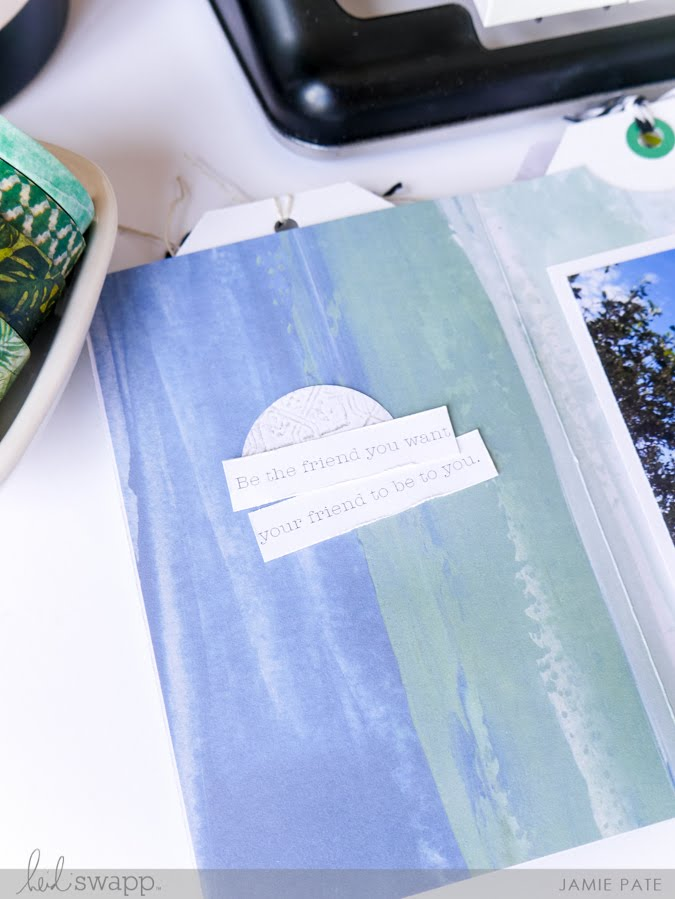 Heidi Swapp Art Walk Mini Album Process Video and Instructions by Jamie Pate