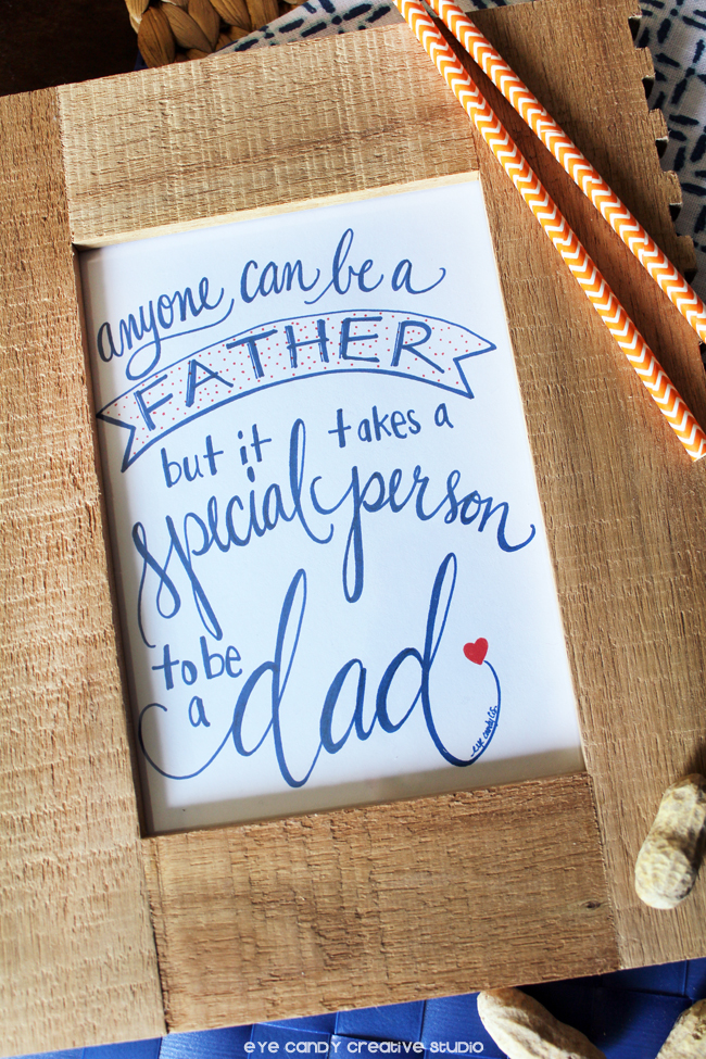 modern calligraphy, father's day hand lettered print, free download