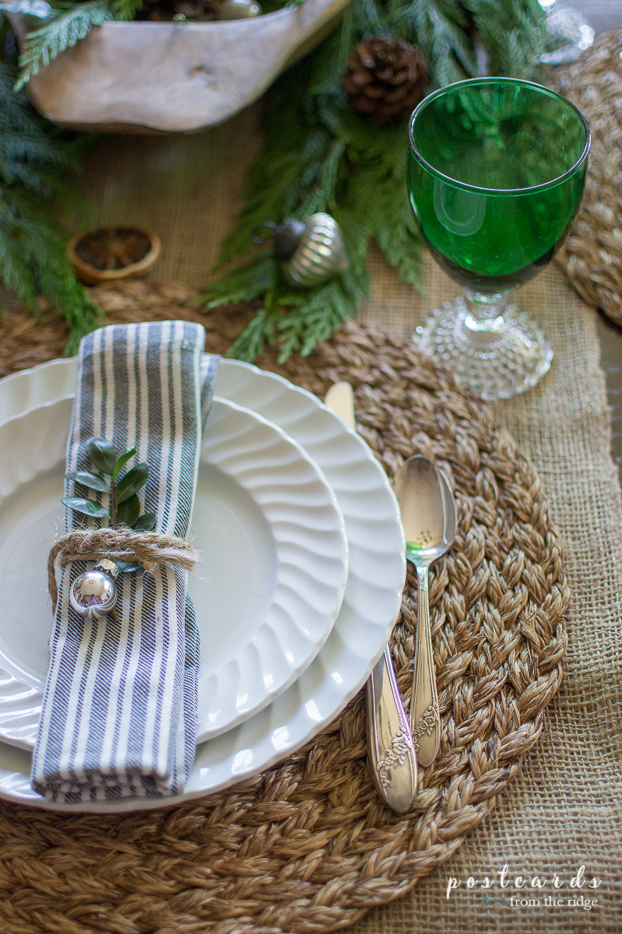 natural farmhouse tablescape