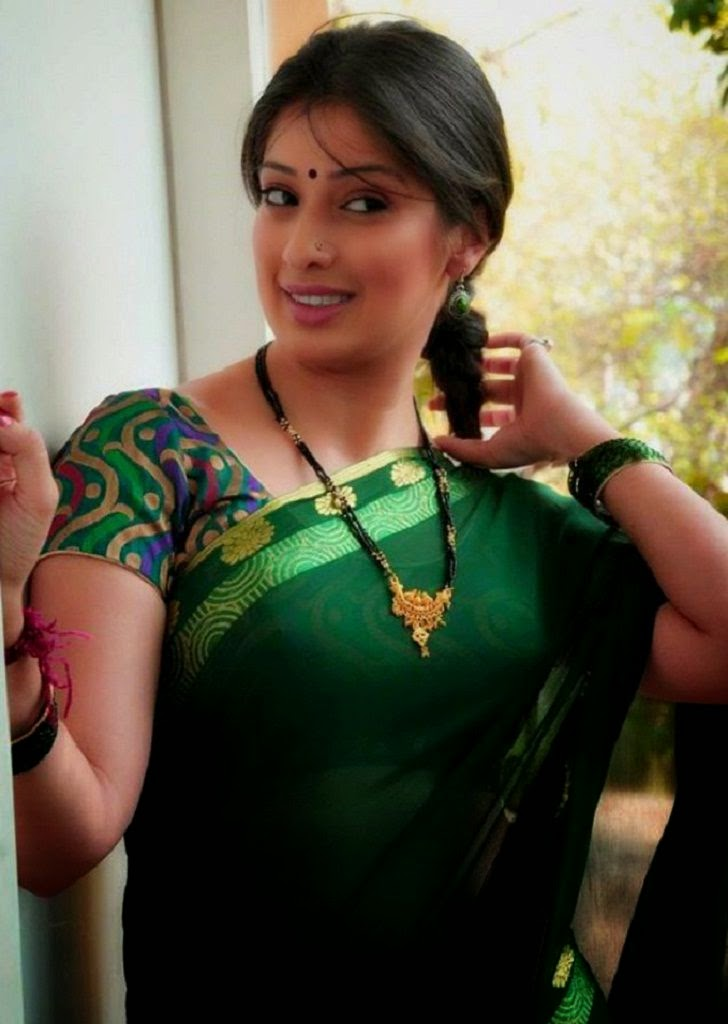 Sexy housewife in saree