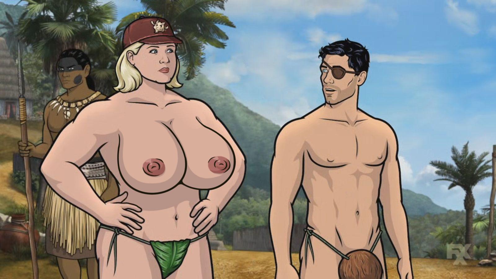 Sexy Naked Archer Erotica Girl