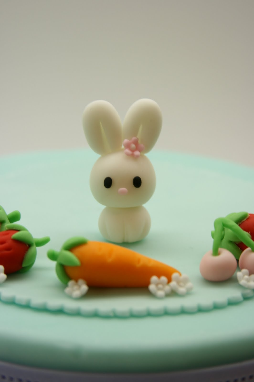 Beautiful Kitchen Lovely Rabbit Family Cake Topper