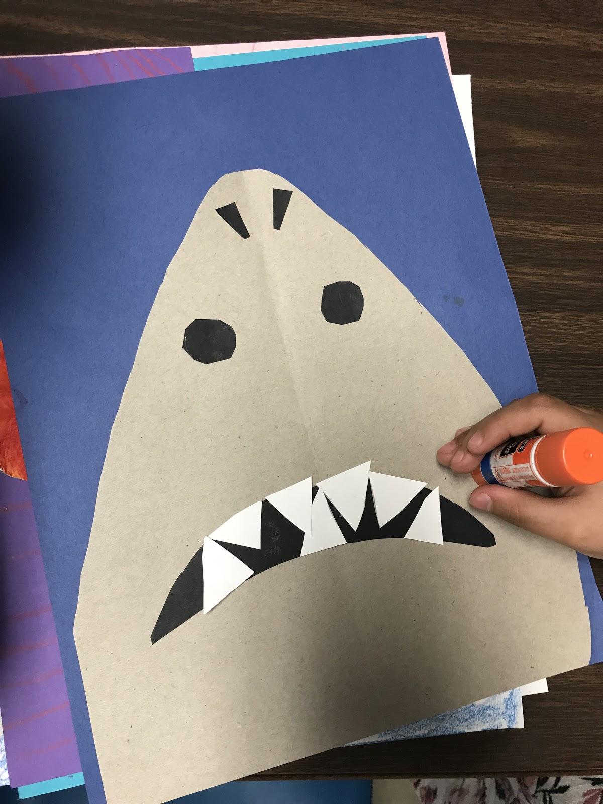 Elements Of The Art Room Kindergarten Symmetrical Sharks
