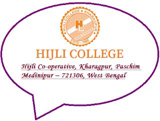Hijli College, Hijli Co-operative, Kharagpur, Paschim Medinipur – 721306, West Bengal