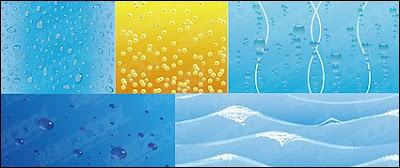 5 fondos en vector de gotas de agua