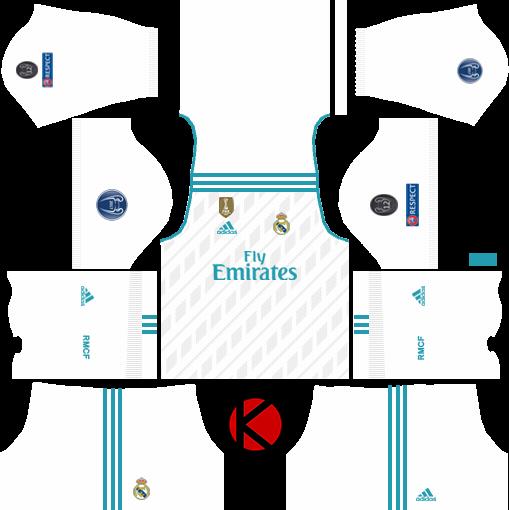 Beliebt Real Madrid Kits 2017/2018 - Dream League Soccer - Kuchalana CN61
