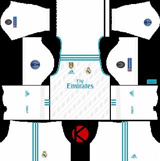4ed98a238 Real Madrid Kits 2017/2018 - Dream League Soccer - Kuchalana: