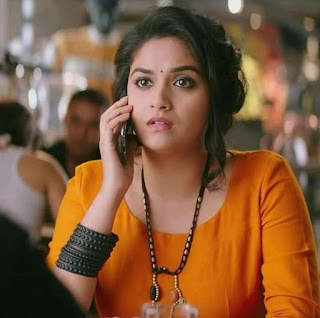 Keerthy Suresh in Orange Dress with Cute and Awesome Expressions