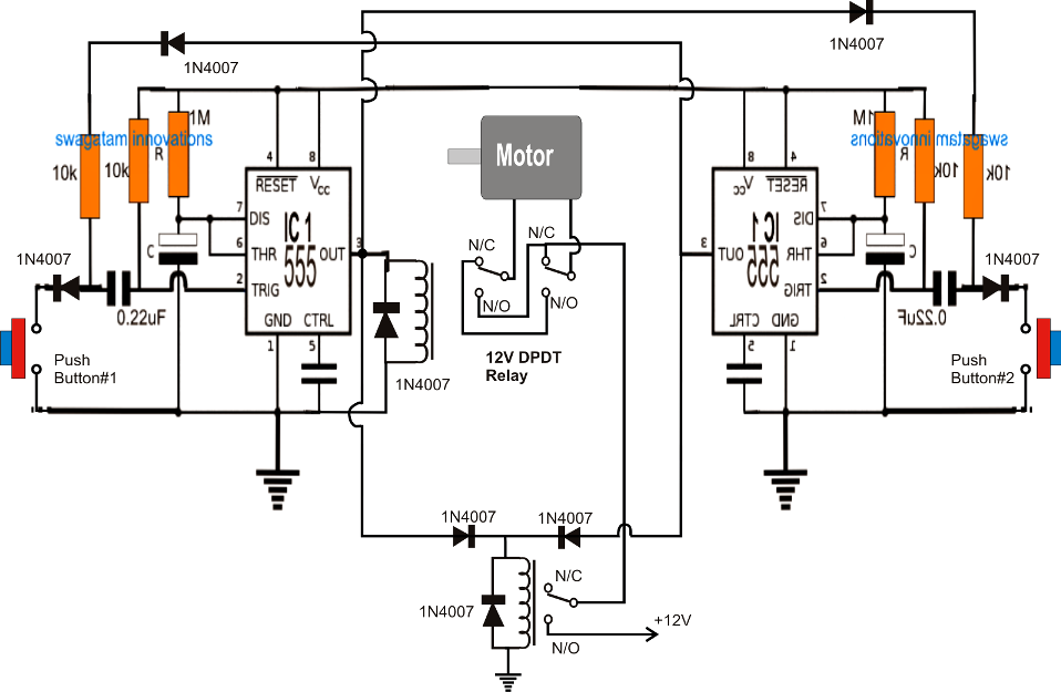 motorized sun shade circuit
