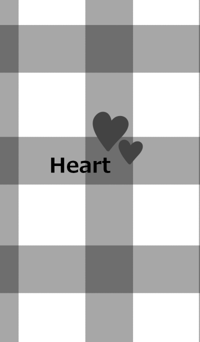 Black check pattern and heart