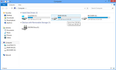 Screenshot: The computer window