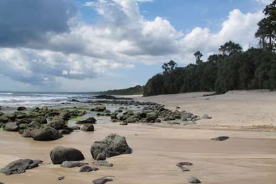 Keindahan pantai Pancur di Taman Nasional Alas Purwo Banyuwangi