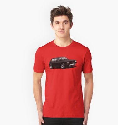 VW Golf GTI Mk1 t-paita t-shirts reddbubble