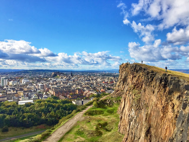 View from the Salisbury Crags, Holyrood Park, Edinburgh, Scotland