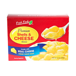 A stock image of Fresh Finds Premium Shells and Cheese, from Big Lots