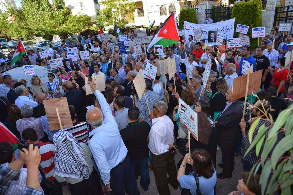 Jordanian Orthodox Hold a Third Protest in Amman