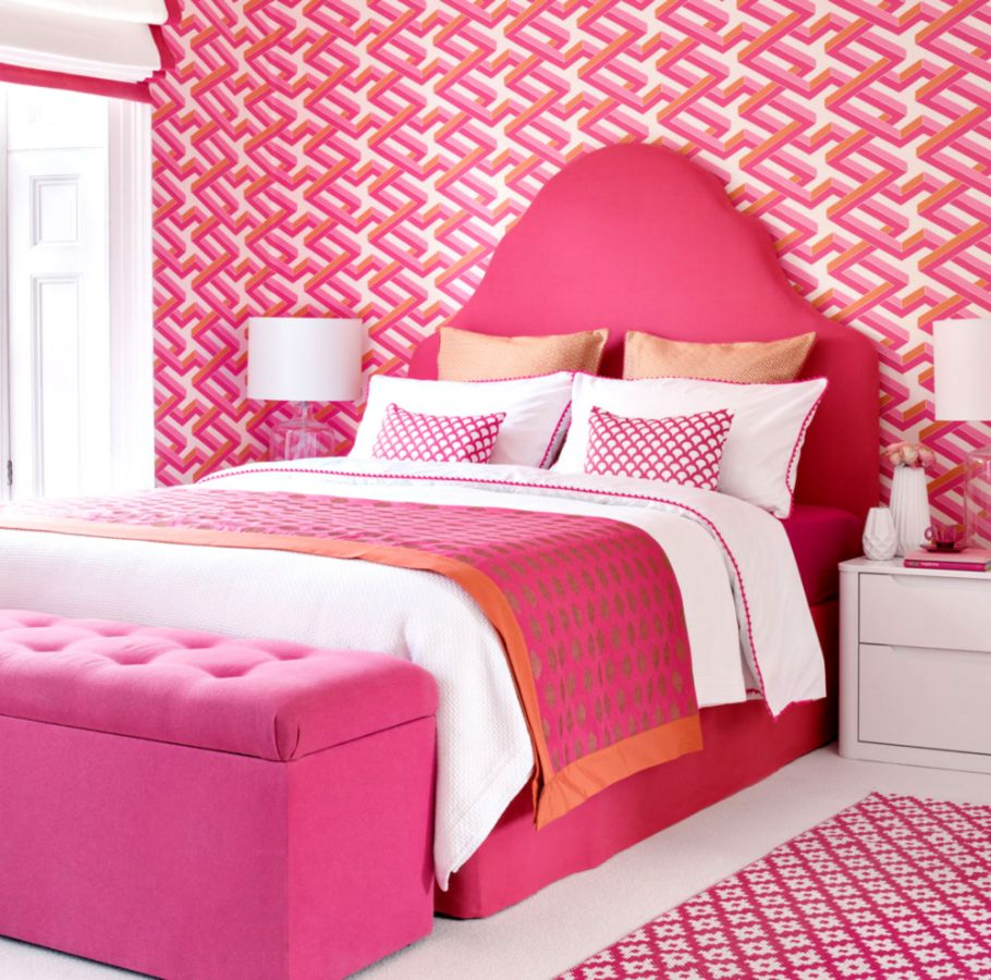 Pink Wallpaper For Bedroom Hd Wallpapers