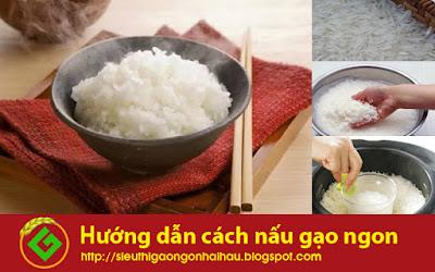 Hướng dẫn cách nấu cơm gạo tám ngon