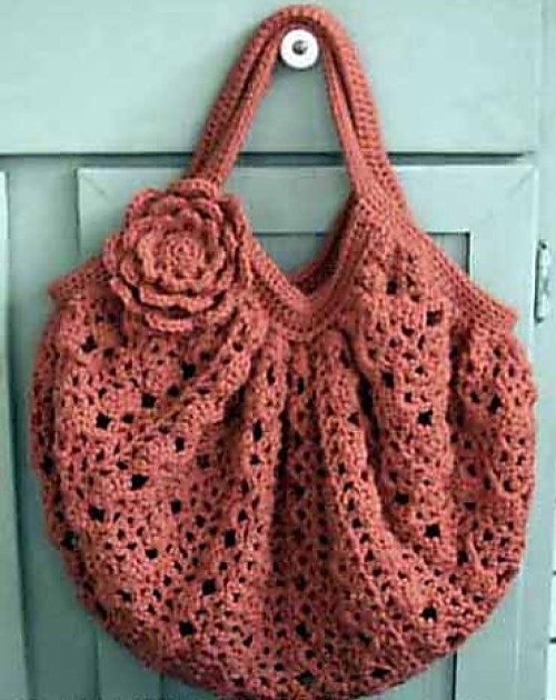 Salmon Lace Bag