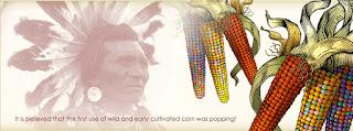 Gambar pribumi benua Amerika yang pertama menemukan bertih jagung (popcorn)