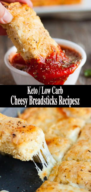 Keto / Low Carb Cheesy Breadstìcks Recipes