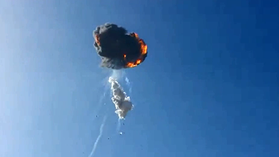 US space X rocket explode