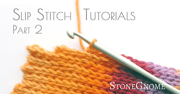 Slip stitch - short n long rows