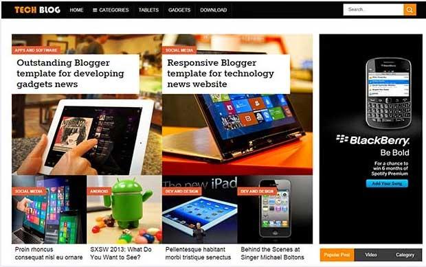 Tech Blog blogger Template