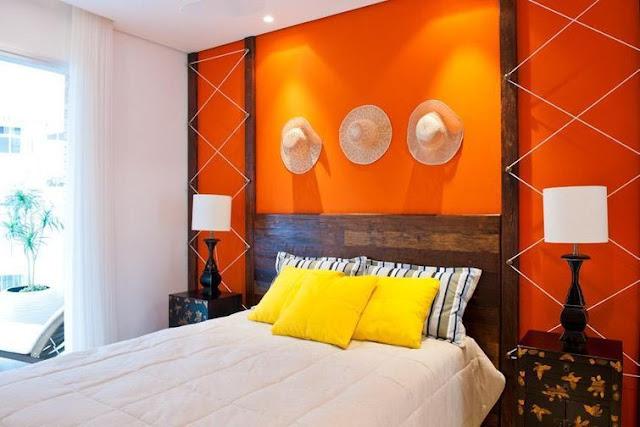 Cor laranja.
