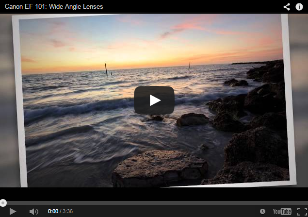 Learning more about Canon EF Lenses: Canon EF / EF-S Wide Angle Lenses
