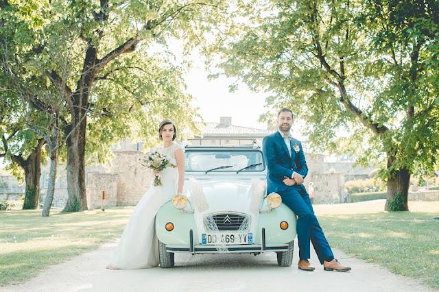 Voiture mariage, fleuriste Lyon, Doune photo, photographe mariage